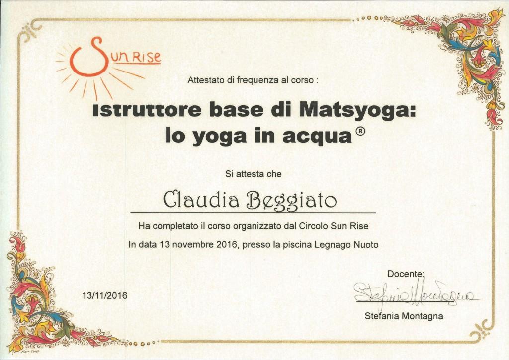 insegnante matsyoga yoga in acqua claudia beggiato