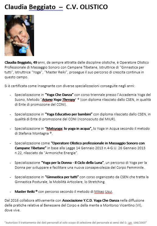 ICONA CV OLISTICO CLAUDIA BEGGIATO