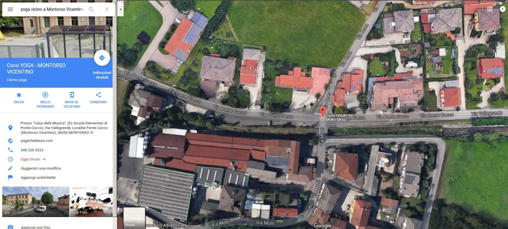 Vista dall'alto SEDE CORSI YOGA MONTORSO - Google Maps