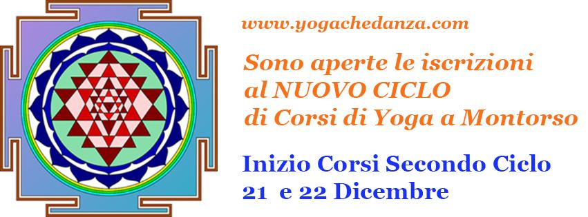 aperte iscrizioni secondo ciclo corsi Yoga