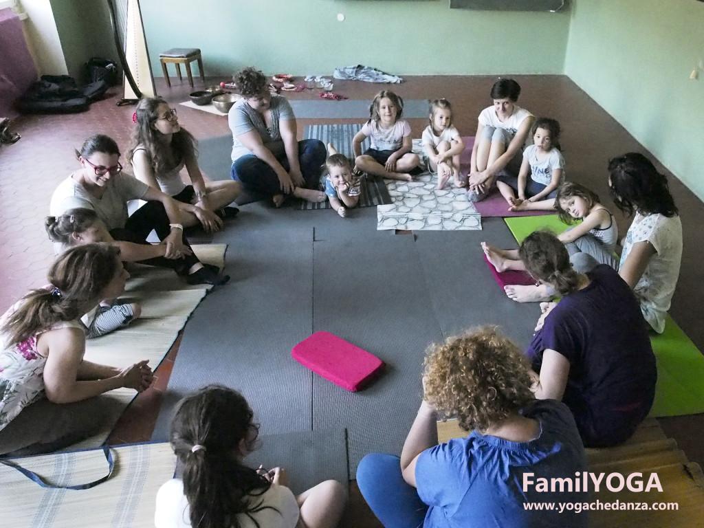 yoga educativo cerchio finale yoga con famiglie