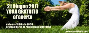 21Giugno alle 19 YOGA GRATUITO ALL'APERTO Montorso