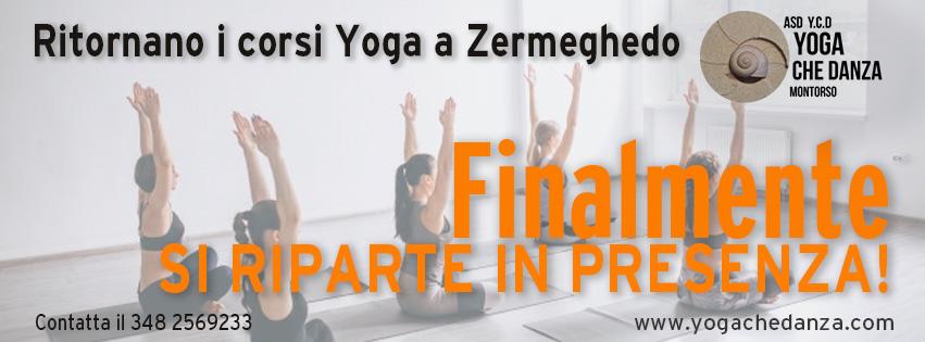 si riparte con lezioni yoga in presenza a Zermeghedo